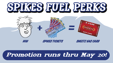 Fans can earn free gas cards by reserving one of seven Spikes ticket packages!
