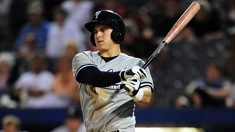 Charleston's Tyler Austin has laced 10 extra-base hits in eight games.